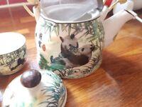 Chinese Panda Tea Set Brand New