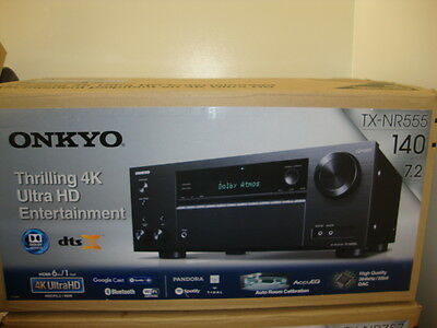 Onkyo Tx Nr555 7 2 Ch  Home Theater  A V Receiver 4K Ultra Hd Wifi Bluetooth Air