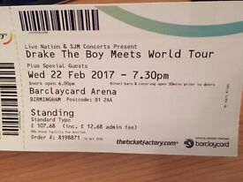 Drake `The boy meets world` Birmingham concert tickets