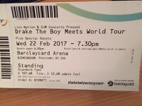 Drake `The boy meets world` Birmingham concert tickets