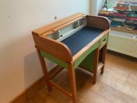 Mid Century Child's Rolltop Desk