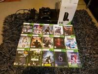 Xbox 360 250gb console & 15 games