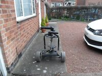 Powakaddy electric Trolley. Split tyre. Otherwise in good condition. Battery NOT included.