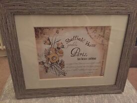 Homesense shabby chic wood effect 8 x 10 photo wall frame with cream mount