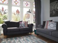 Charcoal/Graphite Mix SOFOLOGY 'Collage' 2 Seater Sofa