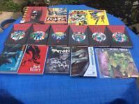 Batman graphics books/comics.
