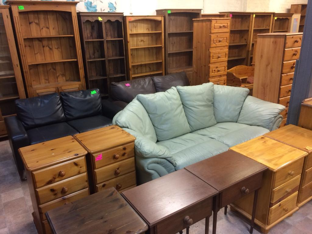 Quality used solid wood / pine bookcase, bureau, dressers & more