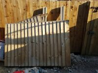Free, must collect, 4foot fence panel & 2 concrete posts