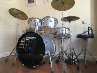 Premier Cabria Drum Kit Complete Hardware EXTRA Cymbal Stool - All Set To Go