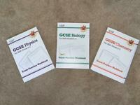 GCSE BIOLOGY CHEMISTRY PHYSICS REVISION WORKBOOKS AQA 9-1