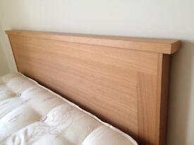 Beautiful pocket sprung double divan bed, mattress and headboard