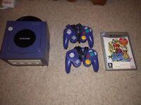 GameCube with Super Mario Sunshine