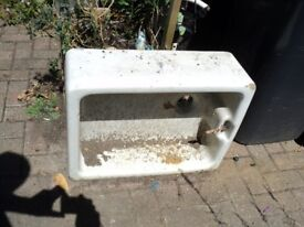 a pair of butler sinks in good condition