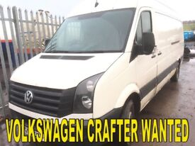 Volkswagen crafter Iveco tipper vans wanted any condition