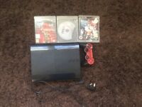 PS3 great condition includes 3 games and controller with Liverpool skin