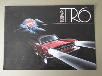 TRIUMPH TR6 New Bodyshell orig 1992 UK Mkt Brochure - British Motor Heritage Ltd