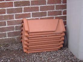 11 Clay Hip Ridge Tiles (90 degrees)