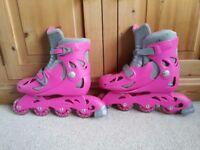Pink Inline Roller Skates - Size 3