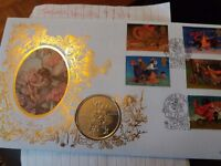 Flower Fairies Crown Coin and Stamp Cover