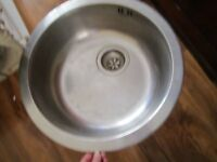 SMALL STAINLESS STEEL SINK WITH WASTE