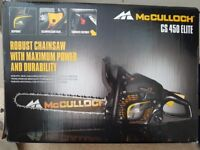 NEW Mcculloch chainsaw