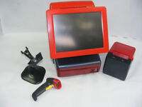 RED custom colour FAST epos till system very stylish with cash drawer and full software license