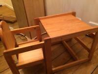 Children toddler desk pine