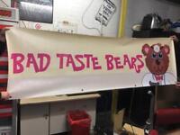 Bad taste bears sign