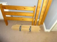 SINGLE WOODED BED FRAME