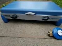 Campingaz 2 burner portable stove with grill plate