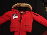 BRAND NEW Canada Goose Mens Red Chilliwack Bomber Jacket 2016.