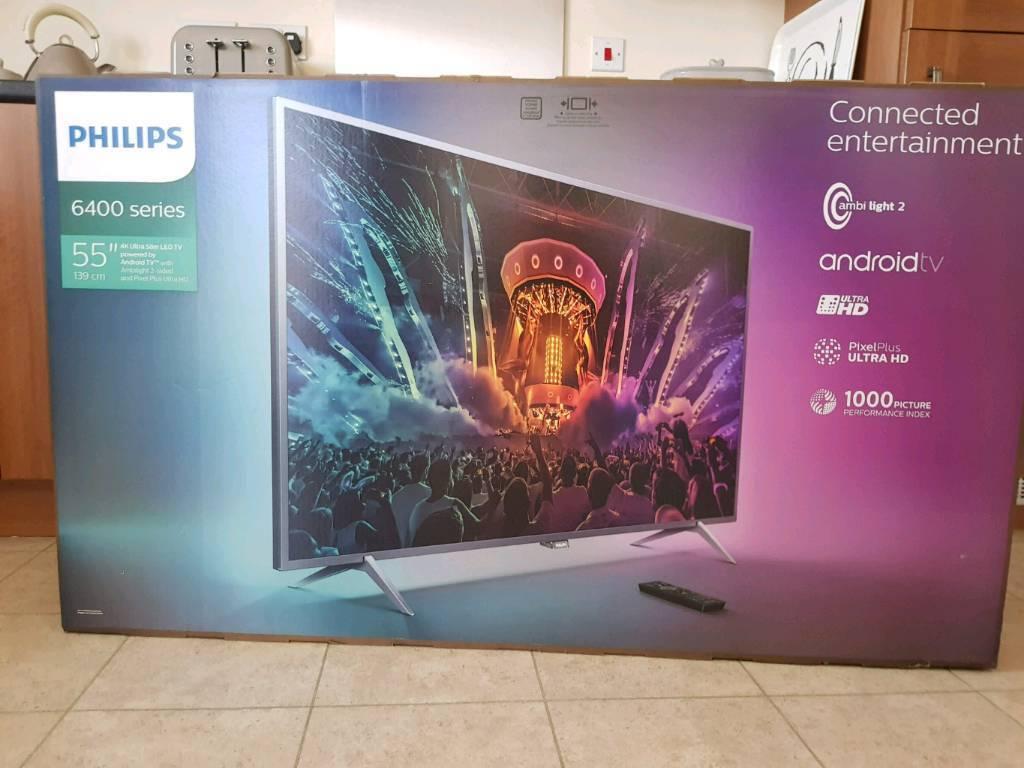 philips 55pus6401 55 inch smart 4k ultra hd tv with hdr in bridgend gumtree. Black Bedroom Furniture Sets. Home Design Ideas