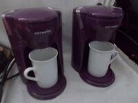 Mini Twin Coffee Maker - purple - new in box