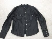 All Saints Men's Leather Jacket rock shirt medium