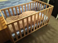 Excellent value wooden infant's cot for sale!
