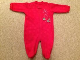 Christmas baby grow sleepsuit 3-6 months.