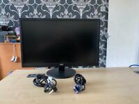 "Aoc 24"" HD led computer monitor dvi & vga with cables"