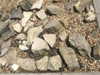 Selection of large and small decorative garden stones