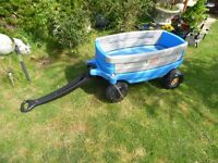 little tikes large blue pull along trailer