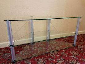 GLASS TV STAND - CLEAR