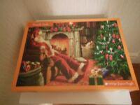 FIRESIDE SANTA 1000 piece jigsaw puzzle