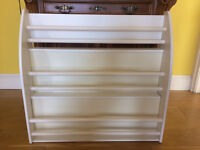 Book case shelf for picture or large books white excellent condition