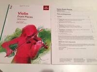 Violin ABRSM Exam Pieces Book Grade 2, 2016-2019 with scores for piano accompaniment