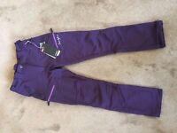 Twentyfour Women Soft shell Sport Trousers 36 windproof hiking snow ski pants NEW WITH TAGS!