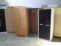 WARDROBES, All types, colours, sizes, prices. All new or ex display. Delivery or collection.