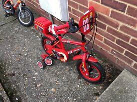 """Kids 12"""" apollo Fire chief bike"""