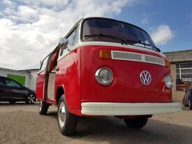 Vw t2 baywindow tintop 1979 ex condition classic camper runs great