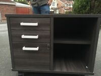Anthracite Office Cabinet Drawers Mobile with Key