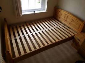 Beautiful wooden double bed frame