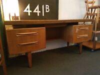 1960's G Plan Fresco Floating Desk/Dressing Table in Teak. Vintage/Retro/Mid Century
